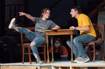 Cast members Zak Wellnitz and McKenzie Durand perform during rehearsal for